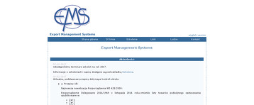 EXPORT MANAGEMENT SYSTEMS SP Z O O