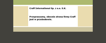 CRAFF INTERNATIONAL SP Z O O SPÓŁKA KOMANDYTOWA
